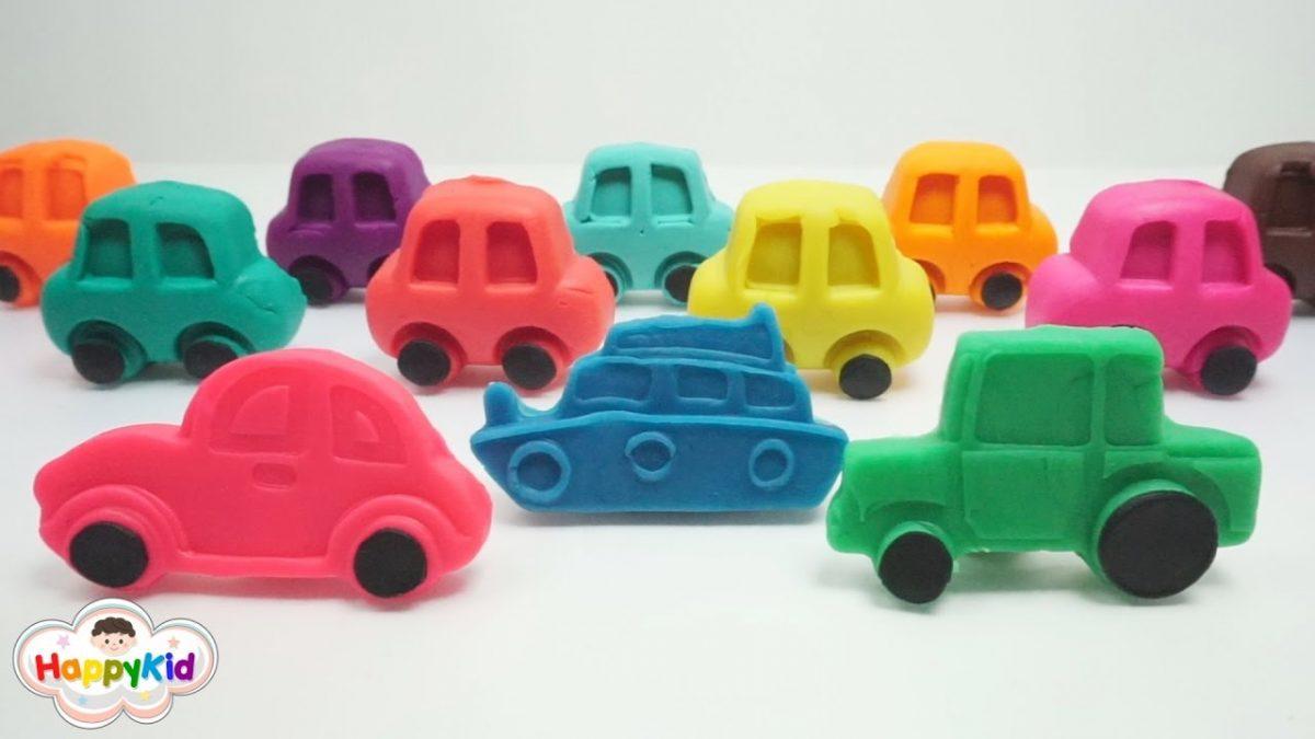 แป้งโดว์รถ | แป้งโดว์ยานพหนะ | เรียนรู้สีภาษาอังกฤษ | Learn Color With Play-Doh Cars