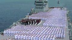 ยิ่งใหญ่! กองทัพเรือร้องเพลงสรรเสริญฯ บนเรือหลวงจักรีนฤเบศร