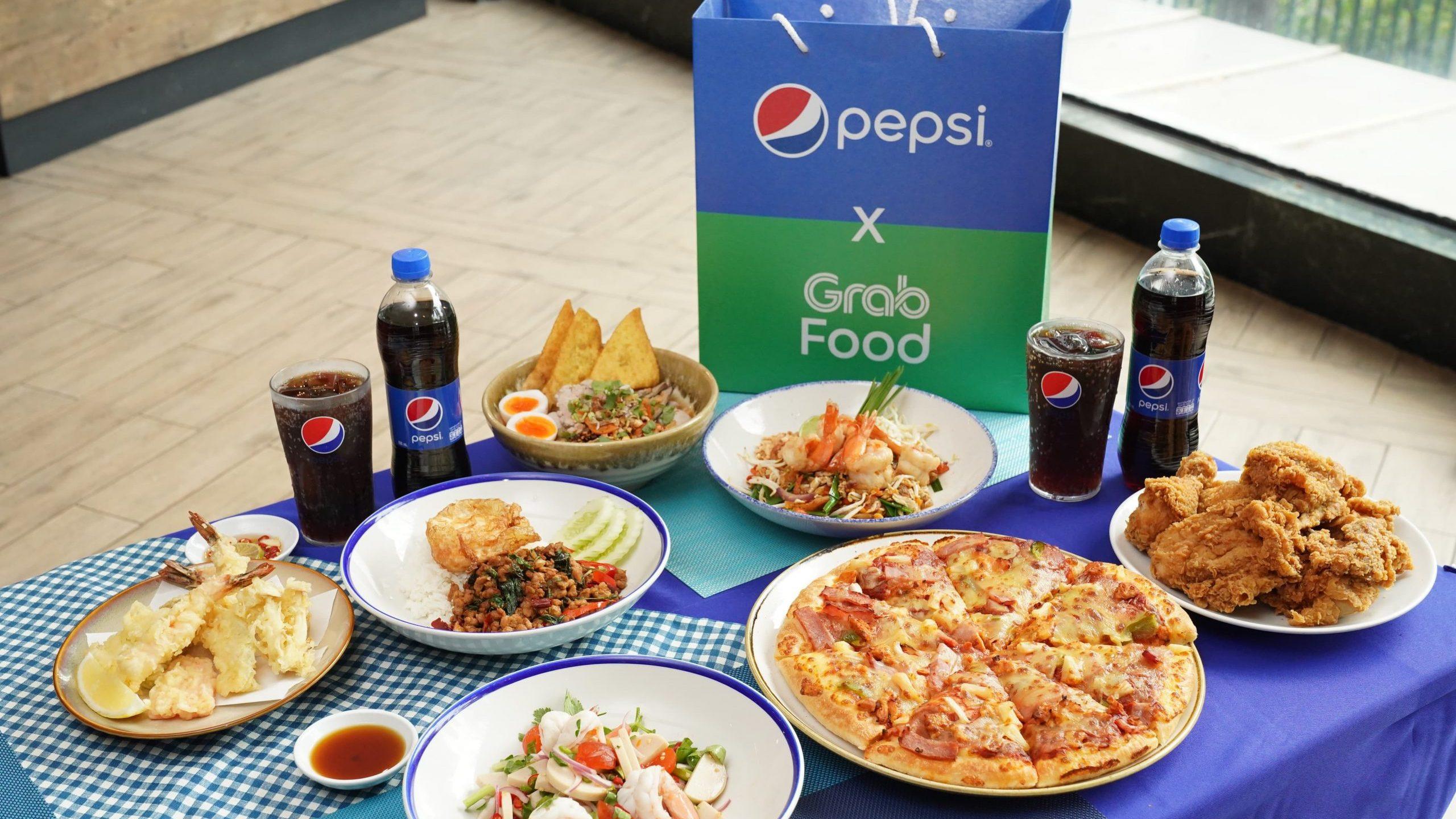 """เป๊ปซี่ และแกร็บฟู้ด จัดใหญ่เอาใจสายกิน ผ่านแคมเปญ """"GrabFood x Pepsi เพื่อนซี้จัดให้ ปี3""""ยกทัพความอร่อยและโปรโมชั่นเด็ดเหมือนมีเพื่อนซี้รู้ใจในทุกช่วงเวลาอาหารตลอดปี 2564"""