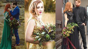 10 ภาพ ชุดเจ้าสาว สีสันสดใส ใครบอกกันว่าเจ้าสาวต้องใส่สีขาวเท่านั้น!
