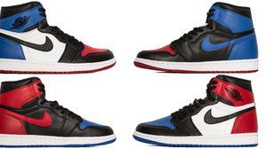 แบบนี้ต้องจัด!! Air Jordan 1 Top Three มาพร้อมกัน 3 สีในคู่เดียว