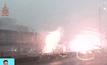 ชานชาลารถไฟถล่มช่วงเกิดพายุในสหรัฐฯ