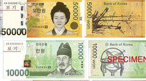 เปิดประวัติ 4 บุคคลที่ปรากฏบนธนบัตรเงินวอน ของเกาหลีใต้