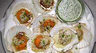 สูตร หอยเชลล์ย่างเนย กับน้ำจิ้มรสแซ่บ