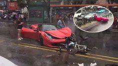 สาวจีนเช่า Ferrari 458 ออกมาขับโชว์ แต่ดันเอาไปชนซะพังยับ โดนเรียกค่าเสียหาย 21 ล้านบาท