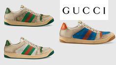 Gucci Distressed ความสวยงามบนรองเท้าผ้าใบที่ได้แรงบันดาลใจจากยุค 70