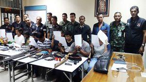 ค้น 10 พื้นที่อำเภอเมือง นครศรีฯ  พบอาวุธปืนและยาเพียบ