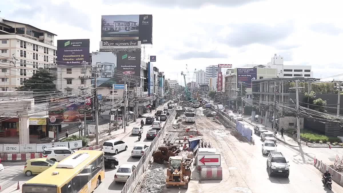 รองผู้ว่าฯกทม. ตรวจการก่อสร้างทางลอดถนนพัฒนาการ-รามคำแหง-ถาวรธวัช คืบหน้ากว่า 20%