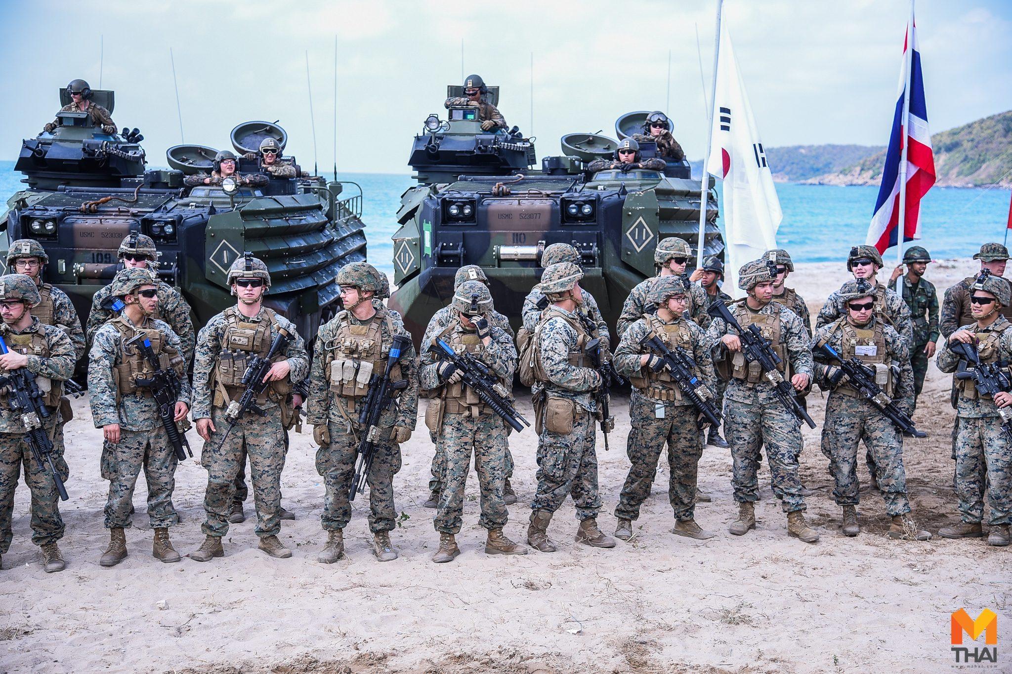 ยกพลขึ้นบก! นาวิกโยธิน 3 ชาติ ร่วมฝึกคอบร้าโกลด์ 2019