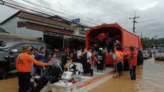 ปภ.รายงานอุทกภัยในพื้นที่ประจวบฯ-ชุมพร เร่งคลี่คลาย ช่วยเหลือผู้ประสบภัย