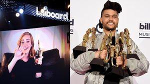 อะเดล ควง The Weeknd กวาดรางวัล 2016 Billboard Music Awards