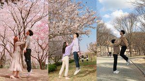 ภาพเทรนด์ใหม่ ท่าจับคอเสื้อ ของคู่รักเกาหลี