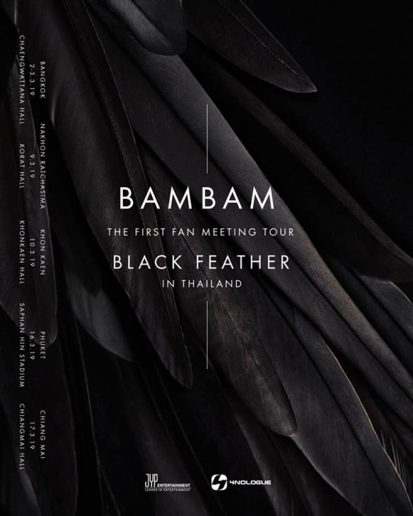 """BAMBAM THE FIRST FAN MEETING TOUR """"BLACK FEATHER"""" IN THAILAND"""