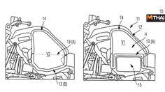 BMW จดสิทธิบัตรถังน้ำมันแบบใหม่ สำหรับมอเตอร์ไซค์ไฮบริด ในอนาคต