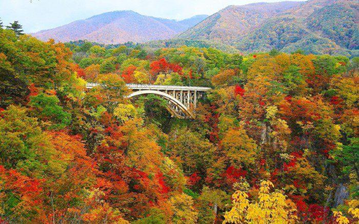 หุบเขานารุโกะ, โทโฮคุ สถานที่ ชมใบไม้เปลี่ยนสีที่ญี่ปุ่น