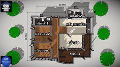 บ้านแนวโมเดิร์น ยกใต้ถุนสูงมี 2 ห้องนอน 2 ห้องน้ำพื้นที่ใช้สอย 88 ตร.ม.