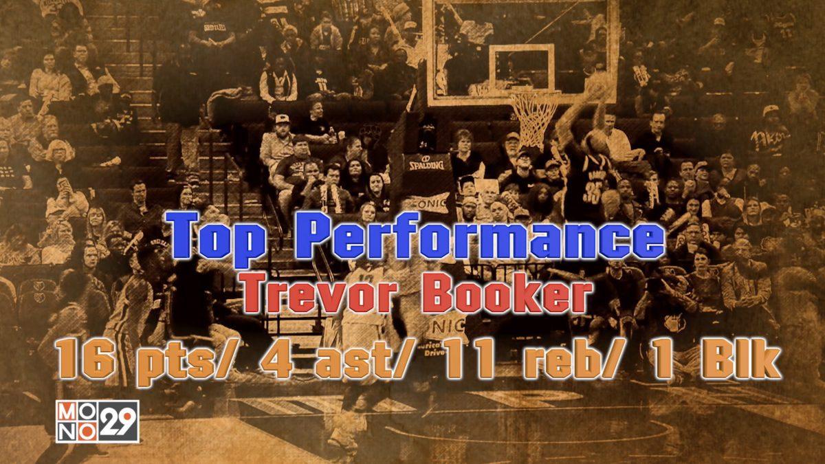 "Top Performance Trevor Booker 16 pts"" 4 ast"" 11 reb"" 1 Blk"
