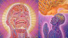 พวยพุ่ง! ภาพวาดสะท้อนจิตวิญญาณจากยาเสพติด LSD  ฝีมือศิลปินระดับโลก Alex Grey