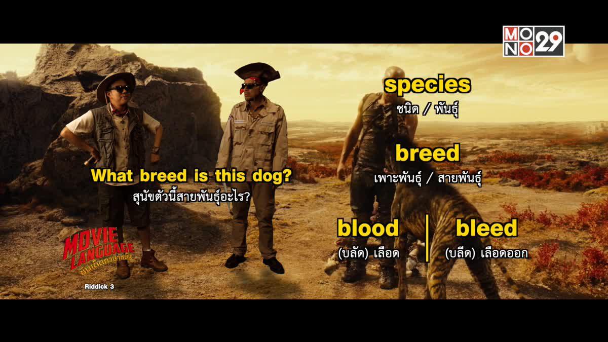 Movie Language ซีนเด็ดภาษาหนัง Riddick 3