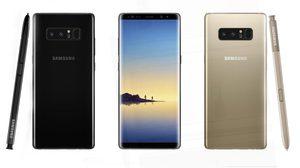 เผยภาพเรนเดอร์ล่าสุด Galaxy Note8 สีดำ Black night และ สีทอง Gold