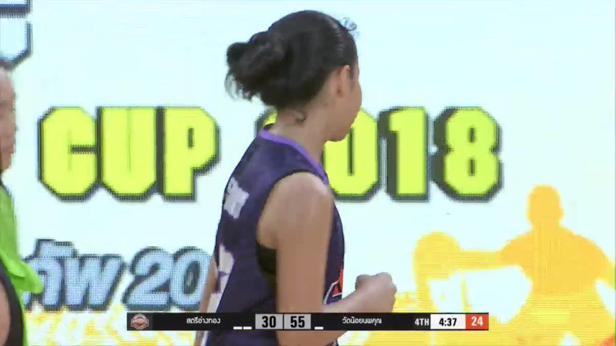 Q4 OBEC MONO CHAMPION CUP 2018 รุ่น 14 ปีหญิง : ร.ร.สตรีอ่างทอง  VS ร.ร.วัดน้อยนพคุณ (9 ก.ค. 2561)
