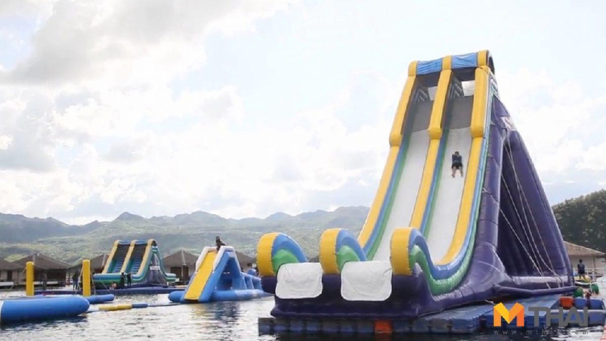 กระโดดน้ำชุ่มฉ่ำ @Lake Heaven Resort จ.กาญจนบุรี