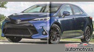หลุด ภาพ Render Toyota Corolla รุ่นปี 2019 จาก magazine ญี่ปุ่น