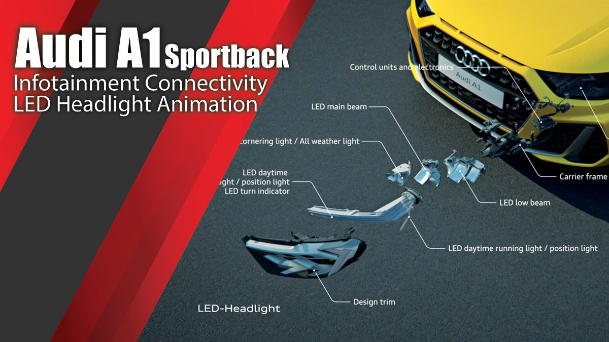 Audi A1 Sportback Infotainment Connectivity LED Headlight Animation