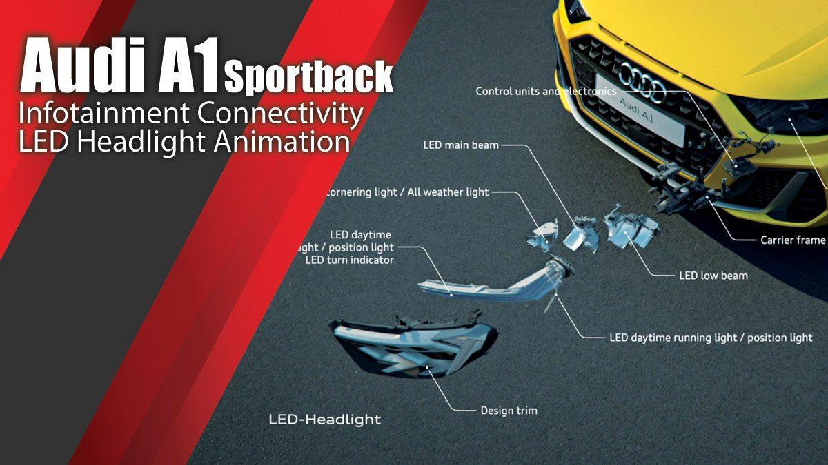 Audi A1 Sportback Infotainment Connectivity LED Headlight Animation