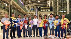 ทัพนักกอล์ฟทีมชาติ เดินทางถึงไทยหลังซิว 6 เหรียญ ซีเกมส์ 2019