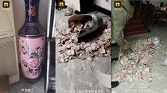 พ่อบ้านใจกล้าเม้มเงินเมีย สุดท้ายโป๊ะแตกเพราะลูกสาวทำแจกันซ่อนเงินแตก