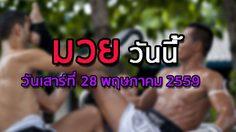 โปรแกรมมวยไทยวันนี้ วันเสาร์ที่ 28 พฤษภาคม 2559
