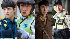 8 พระเอกเกาหลีออร่าปัง ในชุดเครื่องแบบ
