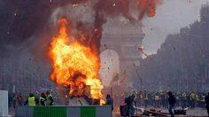 ปารีสเดือด! ม็อบประท้วงบุกเผา ฌ็องเซลิเซ่ลุกเป็นไฟ ขับไล่ประธานาธิดีมาครง