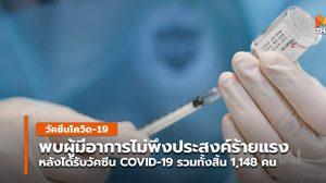 สธ. รายงาน พบผู้มีอาการไม่พึงประสงค์ร้ายแรง หลังรับวัคซีน COVID-19