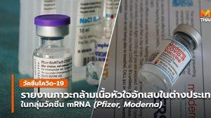 รายงานภาวะหัวใจอักเสบในวัยรุ่นหลังรับวัคซีนชนิด mRNA