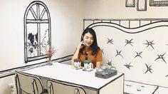 ฮิปสุด!! Yeonnam-dong 239-20 คาเฟ่ที่เหมือนยกโลกการ์ตูนมาไว้ ในกรุงโซล