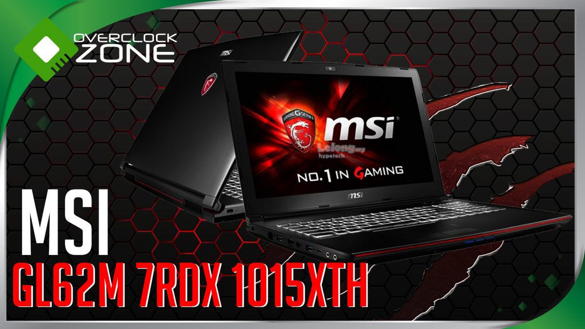 รีวิว MSI GL62M 7RDX : Core i7 + GTX1050 Gaming Notebook