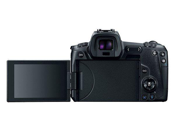 Canon EOS R ด้านหลังและหน้าจอ
