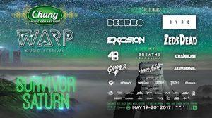 เตรียมขึ้นยาน WARP Music Festival 2017 เปิดตัวสุดยอดดีเจ นำทัพโดย Excision / ZEDS DEAD / Deorro / Dyro พร้อมลุย 19-20 พค.นี้