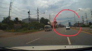 มอบตัวแล้ว คนขับกระบะย้อนศร ทำรถอีกคันหักหลบจนเกิดอุบัติเหตุ