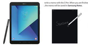เผยภาพคู่มือ Samsung Galaxy Tab S3 คอนเฟิร์มมาพร้อมปากกา S Pen