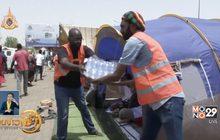 อาสาสมัครแจกน้ำผู้ประท้วงต้านรัฐประหารในซูดาน