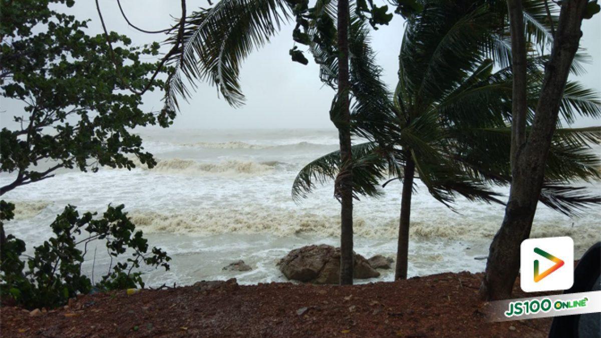 คลิปคลื่นทะเลแรงที่ ชายเล ปากน้ำสิชล จ.นครศรีธรรมราช (04-01-62)