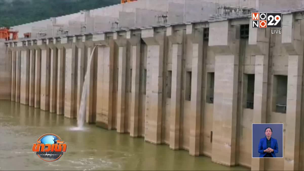 ระดับน้ำโขงแห้งหลังเขื่อนไซยะบุรีผลิตไฟฟ้า