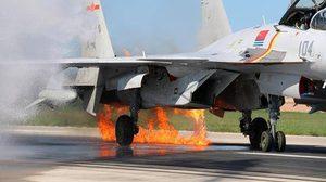 บินรบจีนไฟลุกไหม้ หลังชนนกระหว่างฝึก โชคดีนำเครื่องลงจอดปลอดภัย