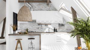 7 ไอเดียตัวอย่าง แต่งห้องครัวสีขาว ให้สวยสะอาดตา