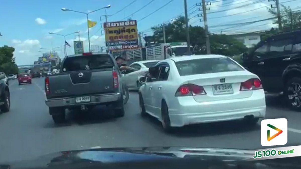 ไล่กวดกันจนชนเกิดอุบัติเหตุ คนขับรถสมัยนี้น่ากลัว