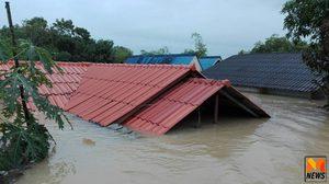น้ำท่วมตรังเข้าขั้นวิกฤติ ต.นาตาล่วง หนักสุดจมมิดหลังคาบ้านแล้ว