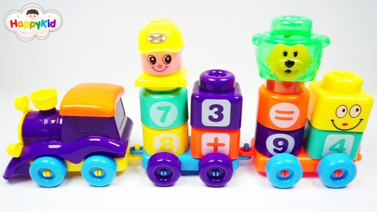 เล่นตัวต่อรถไฟ | บล๊อกรถไฟตัวเลข | เรียนรู้ตัวเลขภาษาอังกฤษ | Learn Number With Train Blocks Number